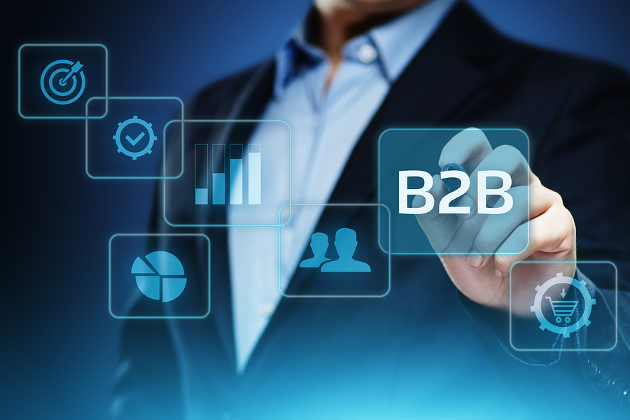 B2B Business Company Commerce Technology Marketing concept.